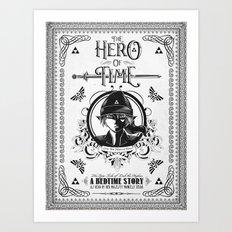 Legend of Zelda Link The Hero of Time Minimal Edition Art Print