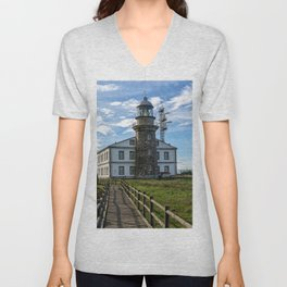 Cabo Penas Lighthouse Unisex V-Neck