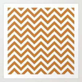 Bronze Chevrons Pattern Art Print