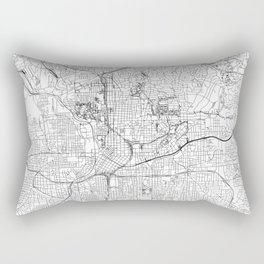 Atlanta White Map Rectangular Pillow