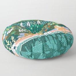 Chilling || #illustration #painting Floor Pillow