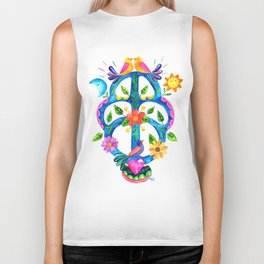 Mexican tree of life Biker Tank