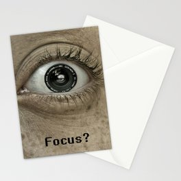 Are you in Focus?  Stationery Cards