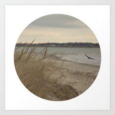 Seaside Serenity Ocean Seaside Beach Neutral Fine Art Prints Gifts Art Print