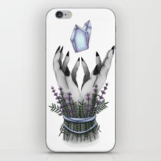 crystal hands colored iPhone & iPod Skin