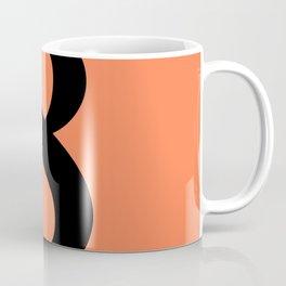 8 (BLACK & CORAL NUMBERS) Coffee Mug