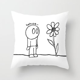 Flower Guy Throw Pillow