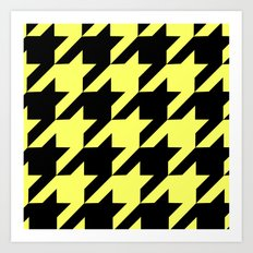 Baby Yellow Houndstooth Art Print