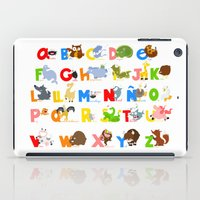 spanish iPad Cases featuring ABC (spanish) by Alapapaju