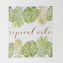 Tropical Vibes - Palms Throw Blanket