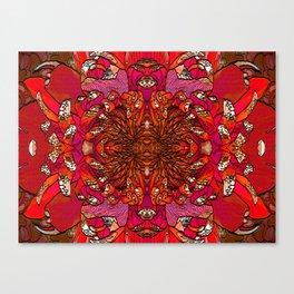 CHRYSANTHEMUM RED Canvas Print
