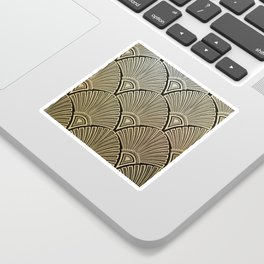 Golden Art Deco pattern Sticker