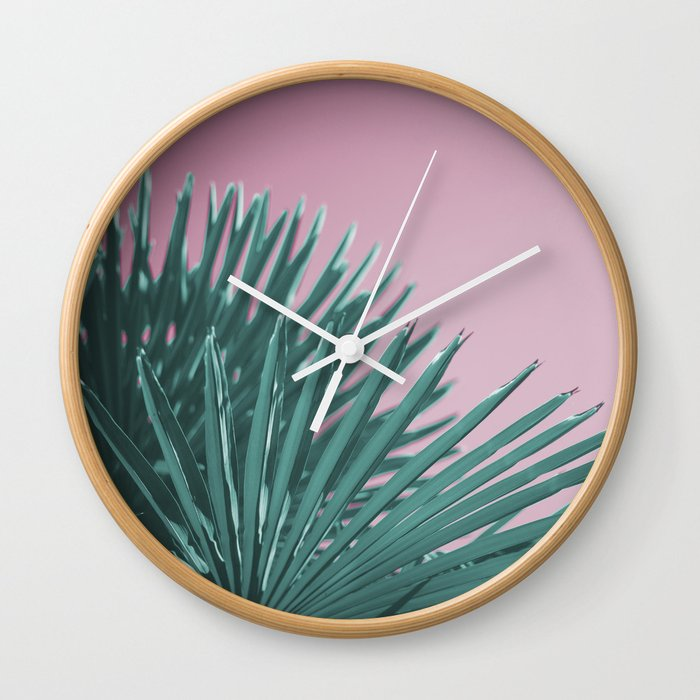 Pop Art Palms Wall Clock