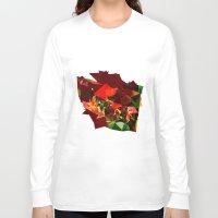 polygon Long Sleeve T-shirts featuring polygon chaos by Matthias Hennig