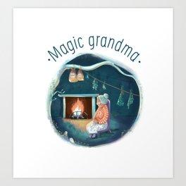 Magic grandma Art Print