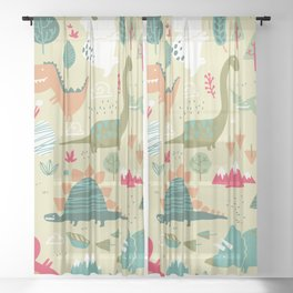 Dino Soup Sheer Curtain