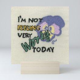 Not feeling worky Mini Art Print