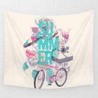 summer Wall Tapestries featuring Summer by Ariana Perez