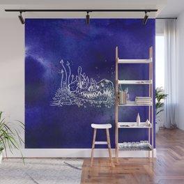 Dino skull – Blue Wall Mural