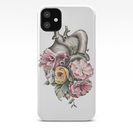 Floral Anatomy Heart iPhone Case