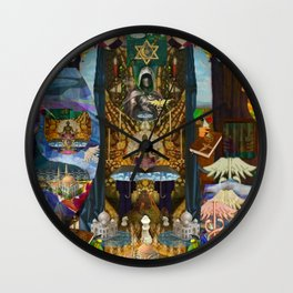 The Golden Cage Wall Clock