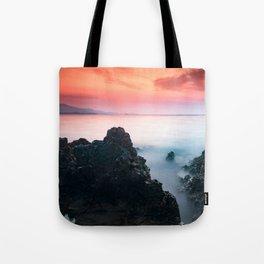 sunset at Ionian sea Tote Bag