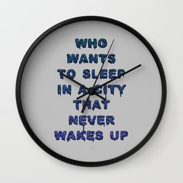 Dorothy was right Wall Clock