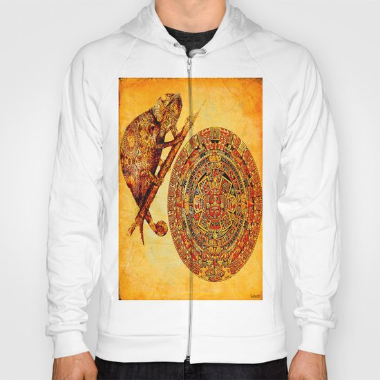 The camouflage of the Aztec chameleon Hoody
