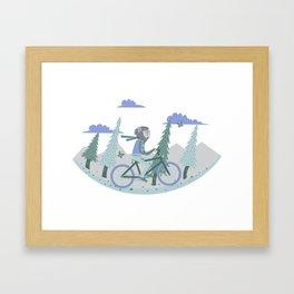 Werewolf Goes For a Ride Framed Art Print