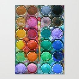 watercolor palette Digital painting Canvas Print
