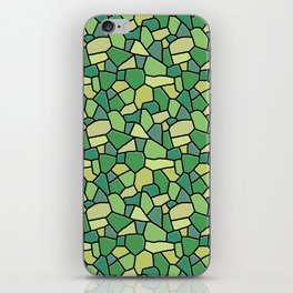 Stained Glass Green iPhone Skin
