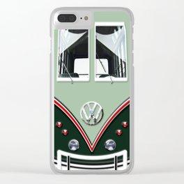 VW Volkswagen Minibus Clear iPhone Case