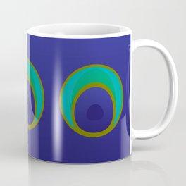 stylized peacock feather pattern Coffee Mug