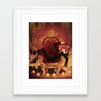 crowley Framed Art Prints featuring Crowley by GraphiteDoll