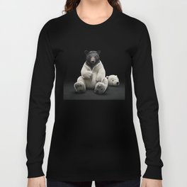 Black bear wearing polar bear costume Long Sleeve T-shirt