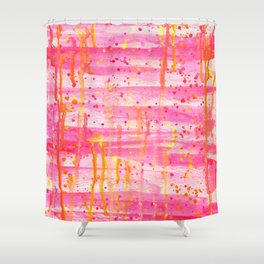 Confetti Abstract High Flow Acrylic Painting Shower Curtain