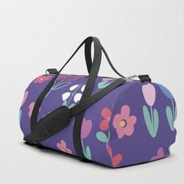 Drawing of spring flowers Duffle Bag
