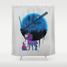 Nature TV Party Shower Curtain