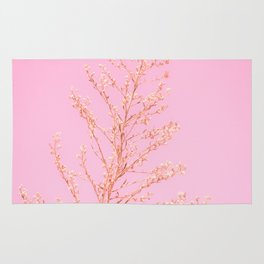 Seeds of Weeds in Pink Rug