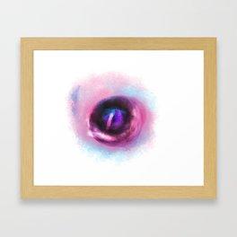 Glitter Eye print Framed Art Print