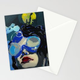 Coal miner lady IV Stationery Cards