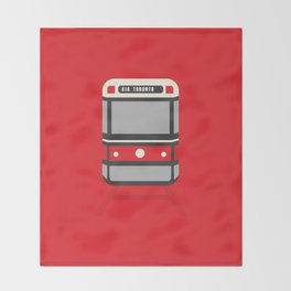 Toronto City Streetcar Throw Blanket