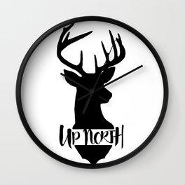 Up North Deer Silhouette Wall Clock