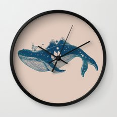 Home (A Whale from Home) Wall Clock