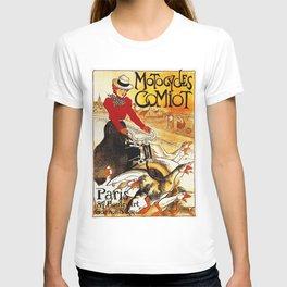 Vintage Comiot Motorcycle Ad - Paris T-shirt
