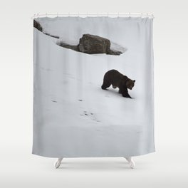 1st bear of the season and its a grizzly - Jasper National Park | Canada Shower Curtain