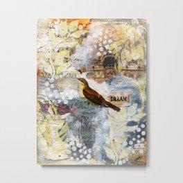 Hand Painted Mixed Media (1-4) Metal Print