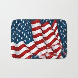 "ORIGINAL  AMERICANA FLAG ART ""STARS N' BARS"" PATTERNS Bath Mat"