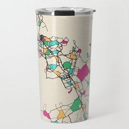 Colorful City Maps: Auckland, New Zealand Travel Mug