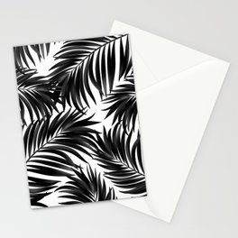 Palm Tree Fronds Black on White Maui Hawaii Tropical Graphic Design Stationery Cards